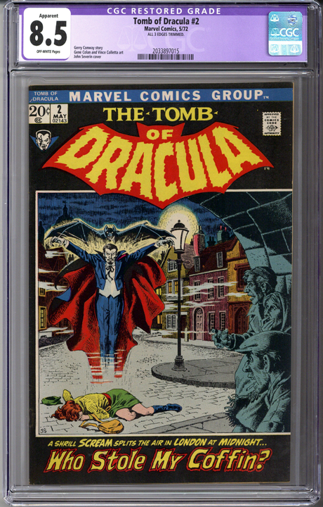 Tomb of Dracula #2 CGC 8.5 Apparent