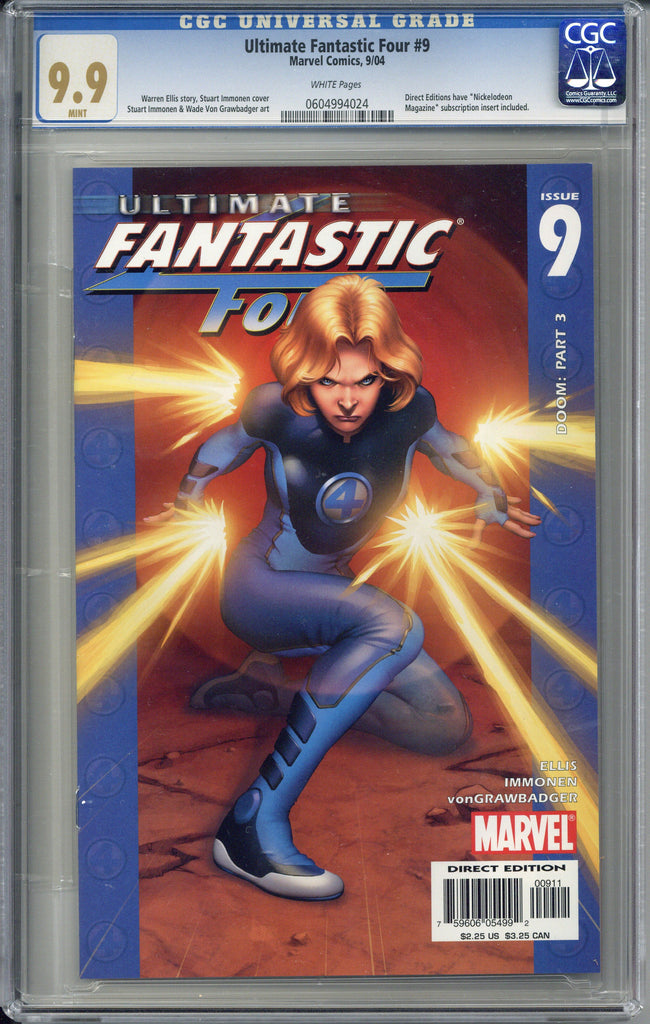 Ultimate Fantastic Four #9  CGC 9.9