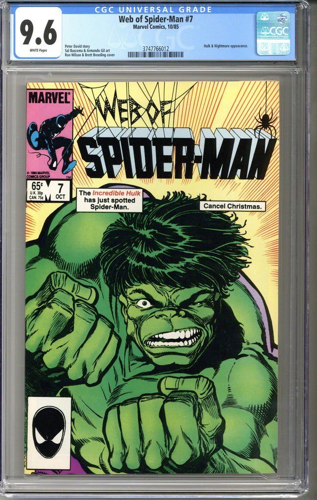 Web of Spider-man #7 CGC 9.6