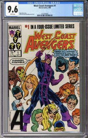 Colorado Comics - West Coast Avengers Limited Series #1  CGC 9.6