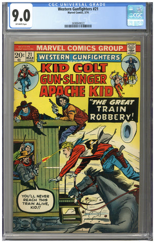 Western Gunfighters #21 CGC 9.0