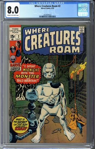 Where Creatures Roam #2 CGC 8.0