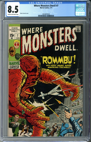 Where Monsters Dwell #7 CGC 8.5