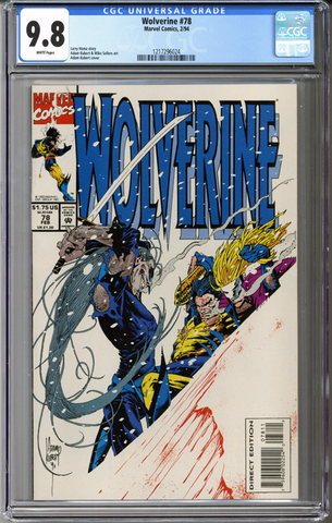 Colorado Comics - Wolverine #78  CGC 9.8