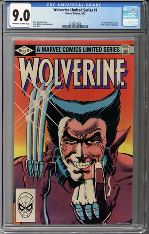 Wolverine Limited Series #1 CGC 9.0