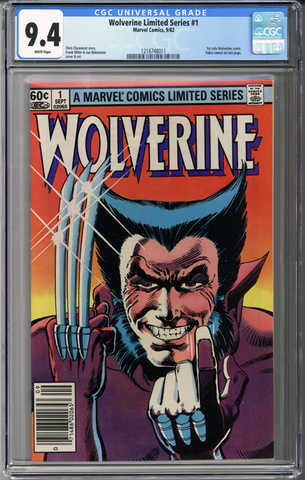 Wolverine Limited Series #1 CGC 9.4