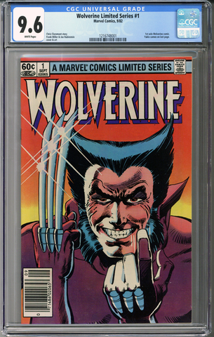 Colorado Comics - Wolverine Limited Series #1  CGC 9.6