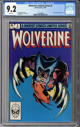 Wolverine Limited Series #2 CGC 9.2