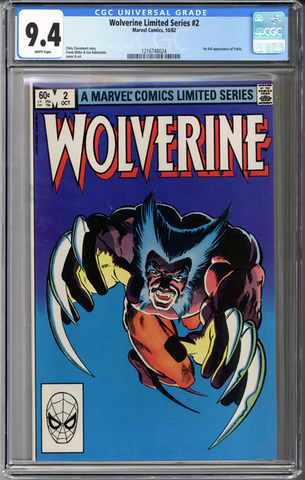Wolverine Limited Series #2 CGC 9.4