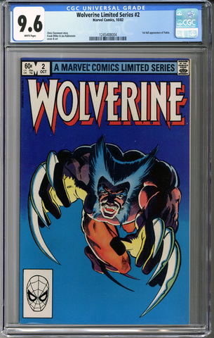 Wolverine Limited Series #2 CGC 9.6