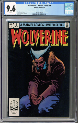 Colorado Comics - Wolverine Limited Series #3  CGC 9.6