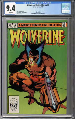 Wolverine Limited Series #4 CGC 9.4