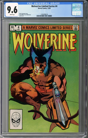 Wolverine Limited Series #4  CGC 9.6