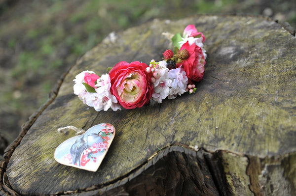 Woodland Raspberry Ripple Flower Crown