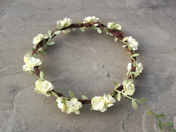 Willow Floral Headband (Buttercup)