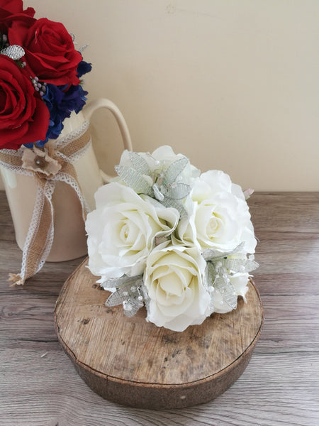 Ivory Sparkle Wedding Bouquet