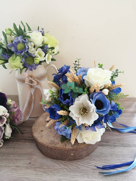 Blue delphinium Meadow bouquet