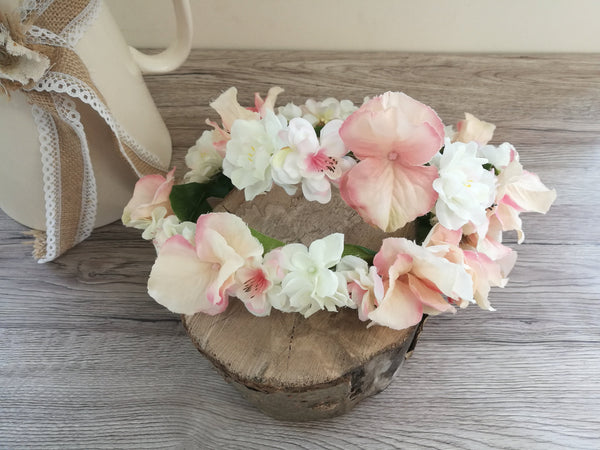 Pale pink flowercrown