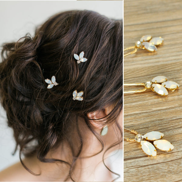 Abi -  Crystal Wedding Hair Pins