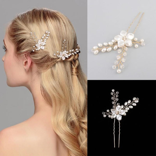 Flora bridal Hair Pins