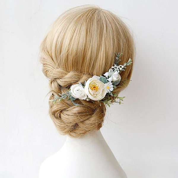 Woodland Flower Hair Comb