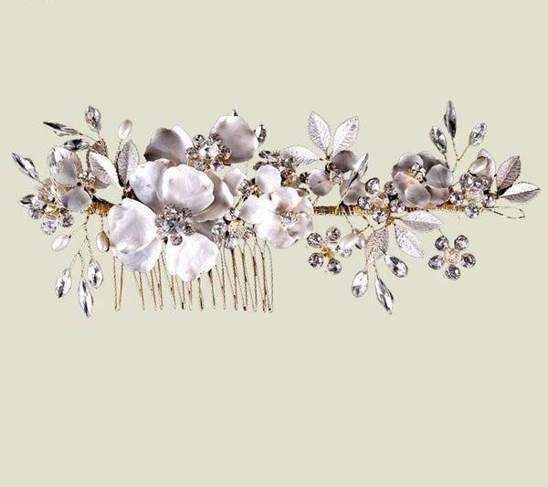 Wedding Floral Bridal Hair Comb