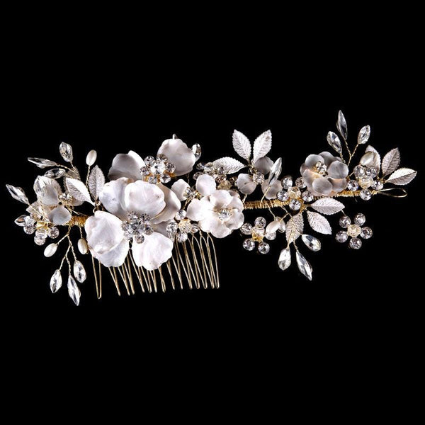 Esme - Wedding Floral Bridal Hair Comb