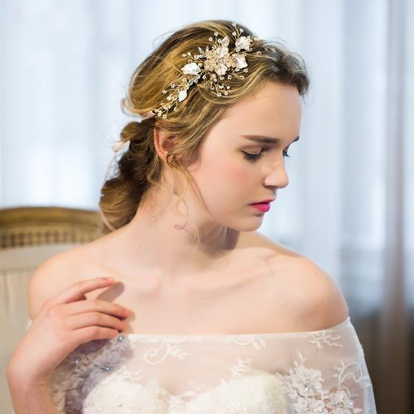 Gold and Pearl Bridal Hair Comb