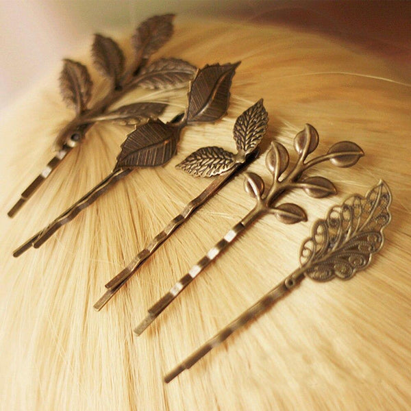 Vintage Gold Leaves Hairpins