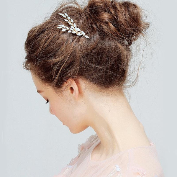 Opal Crystal Bridal Hair Comb