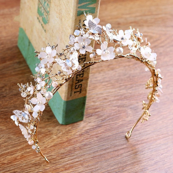 Pippa- Vintage gold butterfly Crown