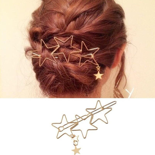 Hollow Stars Hair Pin