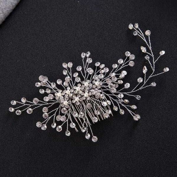 Silver bridal haircomb