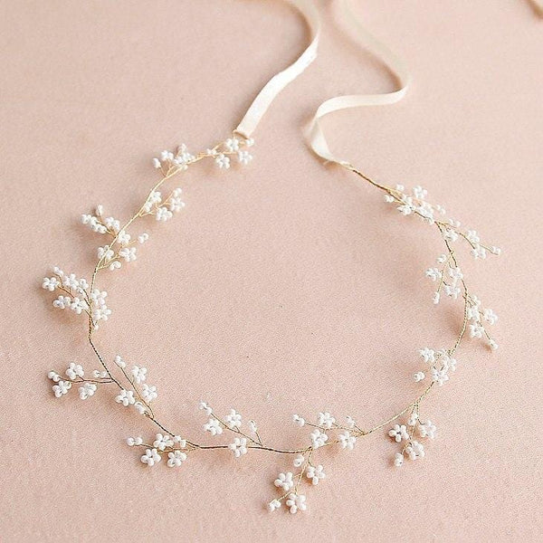 Handmade Pearl bead Wedding Hair Vine