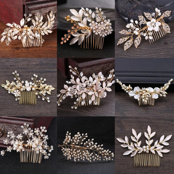 Handmade bridal hair combs