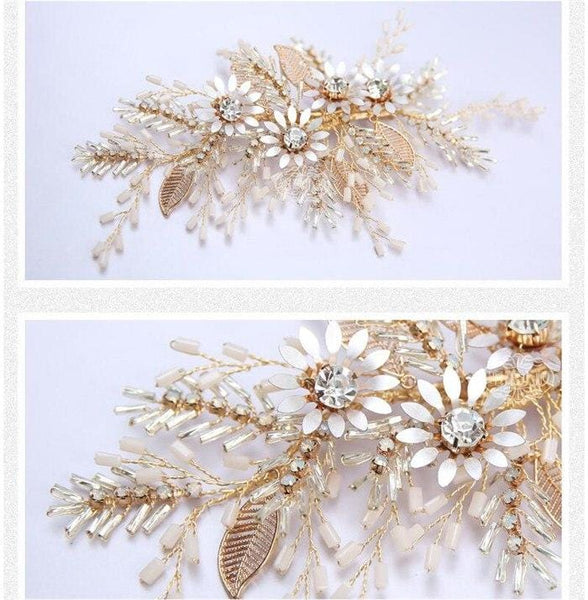 Amelie - Flower Bridal Hair Comb