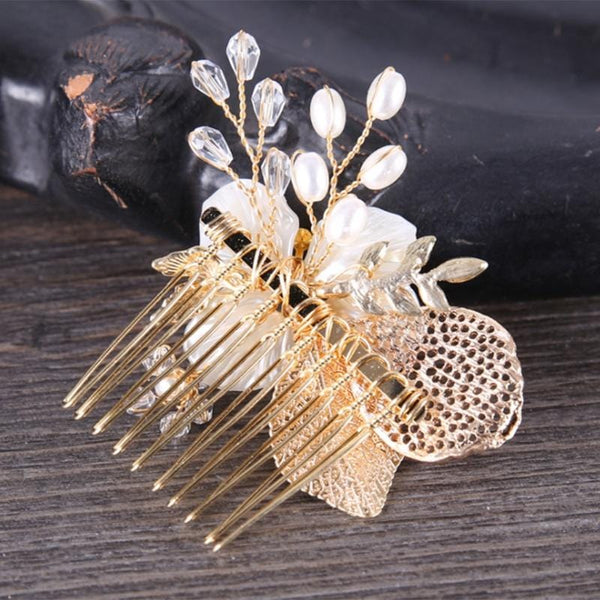 Skeleton Leaf Bridal Hair comb