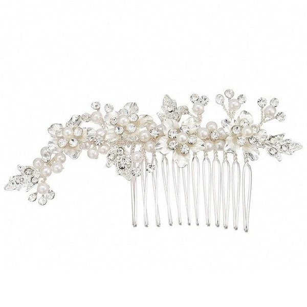 Rose Gold Flower Bridal Hair Comb