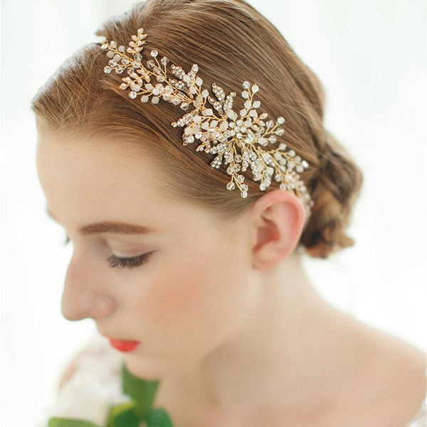Fern - Beaded Bridal Hair Vine