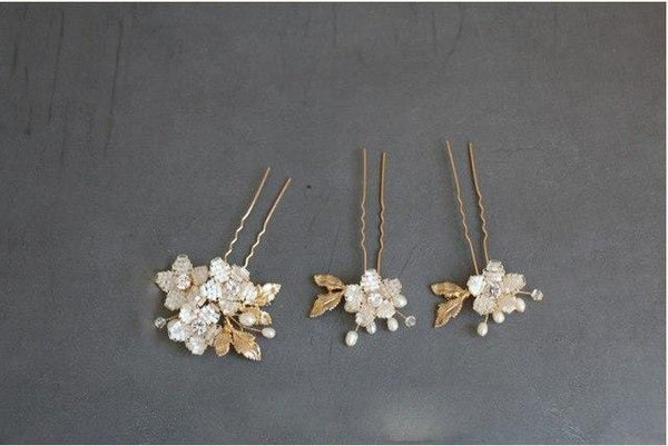 Gold Wedding Hairpins