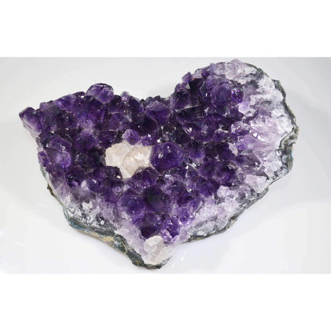 Uruguay Amethyst Cluster with Calcite Growth