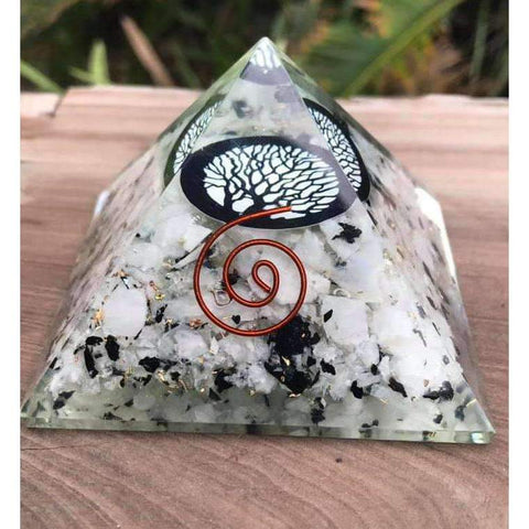 Rainbow Moonstone Orgonite Crystal Pyramid