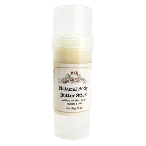 Unscented Natural Body Butter Sticks - Made With Organic & Fair Trade Oils