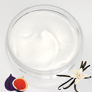 Whipped Natural Body Butter - Vanilla Fig Scented