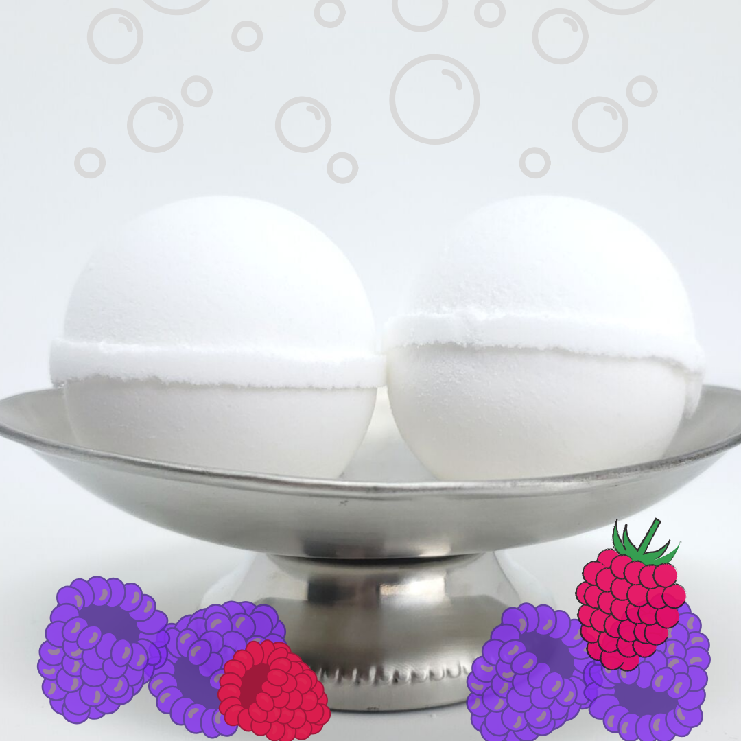 Bubble Bomb - Black Raspberry Vanilla Scented Bubble Bath Fizzies-Sweet Tea 'N Biscuits