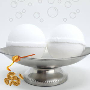 Bubble Bomb - Honey Almond Scented Bubble Bath Fizzies-Sweet Tea 'N Biscuits