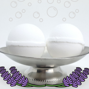 Bubble Bomb - Lavender Essential Oil Scented Bubble Bath Fizzies-Sweet Tea 'N Biscuits