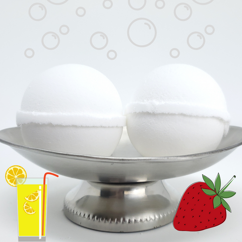 Bubble Bomb - Strawberry Lemonade Scented Bubble Bath Fizzies-Sweet Tea 'N Biscuits
