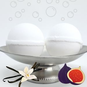 Bubble Bomb - Vanilla Fig Scented Bubble Bath Fizzies-Sweet Tea 'N Biscuits