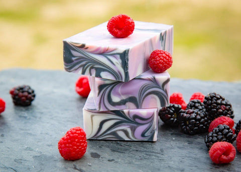 Butterfly Kisses - Black Raspberry Vanilla Scented Handmade Cold Process Soap-Sweet Tea 'N Biscuits